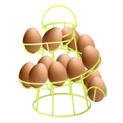 CrazyGadget® Lime Green Coloured Helter Skelter Egg Basket Wire Spiral Egg Run Storage Holder Stand Display Retro Vintage Style Egg Display with Carry Handle Holds up to 12 eggs. Wide selection with 11 colours to choose from.