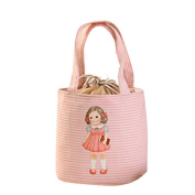 5Five Pink doll lunch or picnic portable insulation bag 24 * 27 * 15