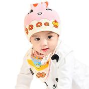 Originaltree Adorable Newborn Baby Cartoon Donut Cap + Bib Set
