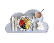 jileSM Portable Silicone Cloud Shape Placemat Table Mat for Baby Kids