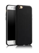 iPhone 6s Case, SDTEK iPhone 6s / 6 (Black) Matte Premium Matte Soft Case [Silicone TPU] Cover [Bumper]