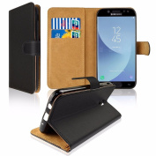 for Samsung Galaxy J3 2017 J330 PU Leather Wallet Flip Case, SDTEK Case Wallet (with Card and Cash Slots) for Samsung Galaxy J3 2017 J330