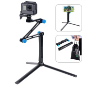 Smatree X1S Aluminium Foldable Multi-functional Pole/Monopod with Tripod Stand for GoPro Hero 6/5/4/3+/3/2/1/Session Cameras,Ricoh Theta S/V, 4K Action Cameras, Compact Cameras and Cell Phones