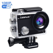 Action Camera,Campark ACT68 Sport Camera Wifi 2.7K/1080P 12MP Full HD Underwater Camera with 170° Wide-Angle 5.1cm LCD Display with Mounting Accessories Kit