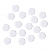 Hicarer 100 Pieces 10 mm Microdermabrasion Cotton Filters Replacement Facial Vacuum Filters, White