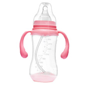340ml and 240ml Silicone Baby Bottle with Handles Anti Colic Feeding Bottle Cup
