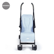 Pasito a Pasito – Summer Long Cushion for Buggies Universal Atelier in Topito Blue Case Ideal For Covering Pushchair and that your drink is Fresquito during the Summer Months