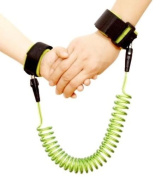 Anti Lost Band,Anti Lost Safety Wrist Link Belt By Sunshine D 1.5M Baby Toddler Reins Safety Harness Strap Leash Walking Hand Belt Child Kids Travel Cares Safety Restraint Wristband Security Elastic Wire Rope Green