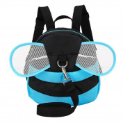 Dosige Shoulder Bag Baby Anti-lost Bag with Harnesses Strap Cute Bee Bag Leisure Travel Backpack