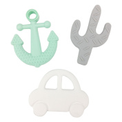 Best for baby Silicone Teether 3pcs baby toys Car Anchor Pendant Nursing Jewellery Necklace Chewing Accessories Baby toys