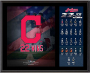 Cleveland Indians 30cm x 38cm 2017 Record Winning Streak Sublimated Plaque - Fanatics Authentic Certified