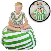 EXTRA LARGE Stuff 'n Sit - Stuffed Animal Storage Bean Bag Cover by Creative QT - Available in 2 Sizes and 5 Patterns - Clean up the Room and Put Those Critters to Work for You!