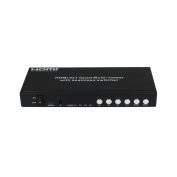 Eazy2hD HDMI 4x1 Quad Multi-Viewer With Seamless Switcher with IR Remote Controler