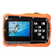 TOP-MAX Digital Underwater Kids Camera Waterproof Dustproof with 5.1cm TFT LCD Screen D720p 12MP for Swimming Diving and Beaching