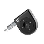 Bluetooth Receiver /Bluetooth Car Kit (Two Microphones 15 Hour) TaoTronics Bluetooth 4.1 Portable Wireless Audio Adapter 3.5mm Aux Stereo Output (One Click Siri Activation,DSP/cVc 6.0/A2DP/AVRCP/AAC) [Latest Version]