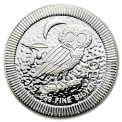 """Pure silver dignity of """"entering clear case made in owl silver coin 30ml 5120cm New Zealand Mint Bureau publication 31.1g"""