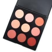 MISKOS 9N Rich 9 Colours Nude Rose Red Blush Palette, Soft Face Blush Pallet, 15ml