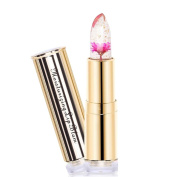 Gold coloured round tubes of flowers, lipstick, temperature change lipstick, long-lasting gel does not fade lipstick