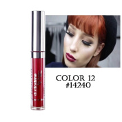 Balai 12Pcs Long Lasting Shiny Moisturising Liquid Lipsticks Beauty Lip Glosses Make Up -6ml