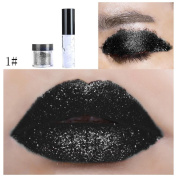 Lipstick, Fuibo Shimmer Glitter Lip Gloss Powder Palette Glitter Lipstick Cosmetic Eye Shadow