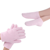 Gel Spa Moisturising Gloves and Socks, Soft Cotton with Thermoplastic Gel Lining - Infused with Essential Oils and Vitamin for Repairing Heal Eczema Cracked Dry Skin
