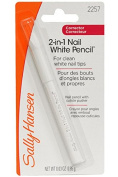 Sally Hansen 2-in-1 Nail White Pencil with Cuticle Pusher - 0ml