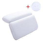 Bath Pillow, Kapmore Non Slip Bathtub Pillow Home Spa Bath Pillow with A Silicone Tub Stopper-Comfort Neck Rest Back Support Bathtub