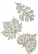 Heritage Lace 'Foliage Two 20cm and One 15cm Accent, Ecru, Set of 3