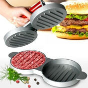 Double Hamburger Beef Burger Quarter Pounder Maker Mould Press Patty Barbecue Bbq Meat Barbeque Grill