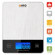 Professional Digital Kitchen Scale EMPO® Food Scale with Tempered Glass - LIFETIME WARRANTY - High Accuracy Electronic Cooking Scale with Large LCD Display and Tare Feature for Home, Kitchen, Christmas, Holiday, Herbs, Spices, Coffee, Food and Baking I ..