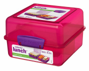 Sistema Lunch Cube, 1.4 L - with contrasting Clips, Pink