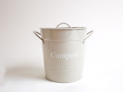 Compost Tin in Hurst Pebble by Dill and Mint