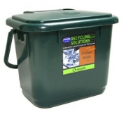 Addis Kitchen Compost Caddy, Dark Green