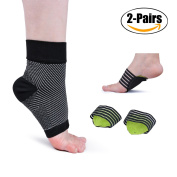 Plantar Fasciitis Socks, Kapmore Foot Care Compression Sleeve with Arch support for Women Men