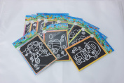 6pcs Child Kids Magic Scratch Art Doodle Pad Painting Card Educational Game Toys Learning Drawing Toys