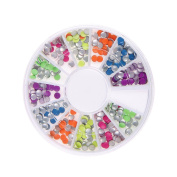 Nizi Jewellery Nail Art Decorations Resin Rhinestones Sticker For Nails Flat Back Pack of 1 Set Many Colours