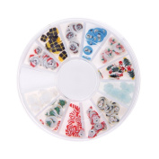 Nizi Jewellery Nail Stickers Resin Rhinestones For Nail Art DIY Design Decorations Accessoires Flat Back Beautiful Christmas Pack of 1 Set Many Colours