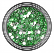 Light Green Rhinestones in 3mm for Flatback Nail Art Cabochon Diy Decoration and Craft