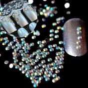 1 Bag= 1000pcs 3D AB Nail Art Rhinestones SS6 2mm Resin Flat back Rhinestone Beads DIY Nails Design Phone Case N22