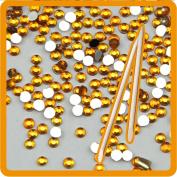 Fashion gallery 20000pcs Yellwo Colour Crystal Nail Rhinestones 2mm for Nails Golden 3D Nail Art Decoration + 2 wood Stick DIY Bead nail Tools