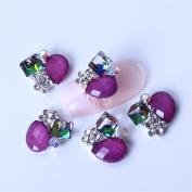 So Beauty 10pcs Alloy Nail Art Tips 3D Special Style Rhinestone Glitters Beads DIY Decoration-2