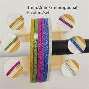 1Pc 1mm/2mm/3mm Nail Striping Tape Line DIY Nail Art Adhesive Decal Nail Decoration Styling Tool