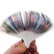 29PCS mix Colour Rolls Striping Tape Metallic Yarn Line Glue Adhesive Stick Strip Nail Art Decoration Sticker Decal