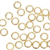 BMC Cute 100pc Gold Metal Alloy Twisted Cut-Out Ring Frame Nail Polish Art Fashion Accessory Stud