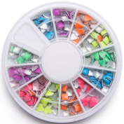 Hot New 2014 Model Nail Art 3d Metal Studs Punk Style Neon Decoration Rivest Tip for Manicure Decor