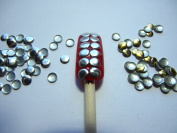 Nail Art 270 Pieces Gold & Silver 4mm ROUND Metal Studs for Nails, Cellphones