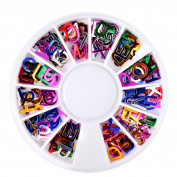 Vinjeely Dazzling Tips Nail Sticker Sequins Colourful Nail Art Decoration DIY