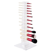 MAKARTT Makeup Brush Holder 12 Spaces Acrylic Clear Separated Individual Makeup Brush Organiser, Organise and dry makeup brush