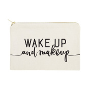 The Cotton & Canvas Co. Wake Up and Makeup Cosmetic Bag and Travel Make Up Pouch