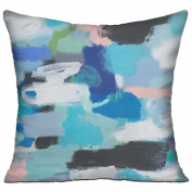 Holly Watercolour Paint Square Stuffed 18 X 18 Accent Pillow